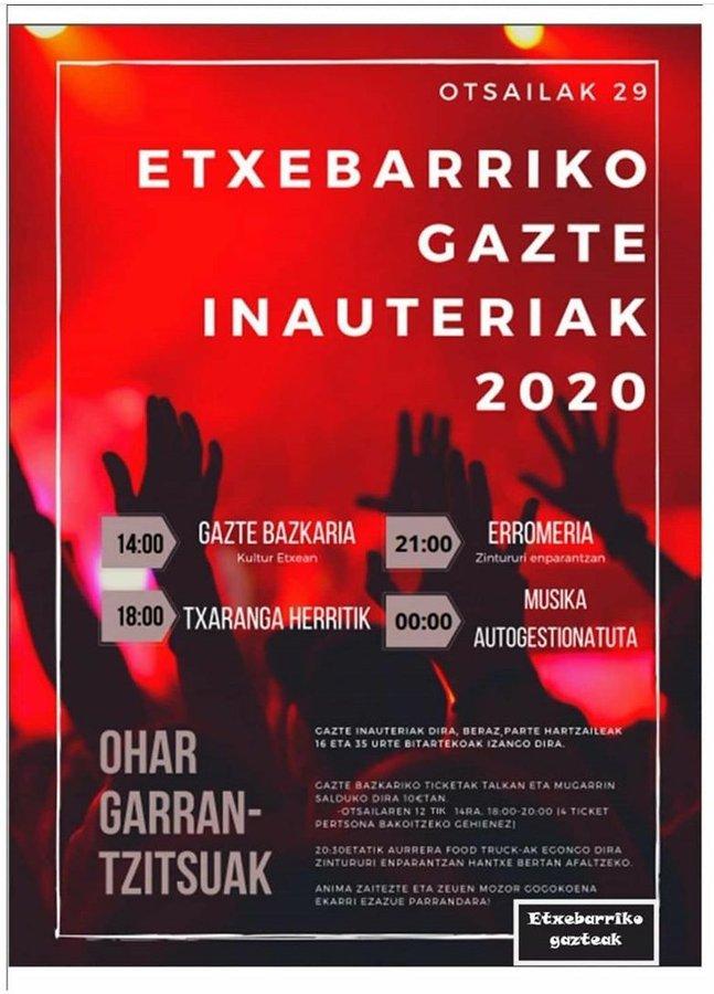 Caranaval joven Etxebarri Gazte Inauteriak 2020