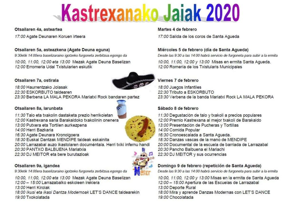 Kastrexana auzoko jaiak / Fiestas del barrio de Kastrexana