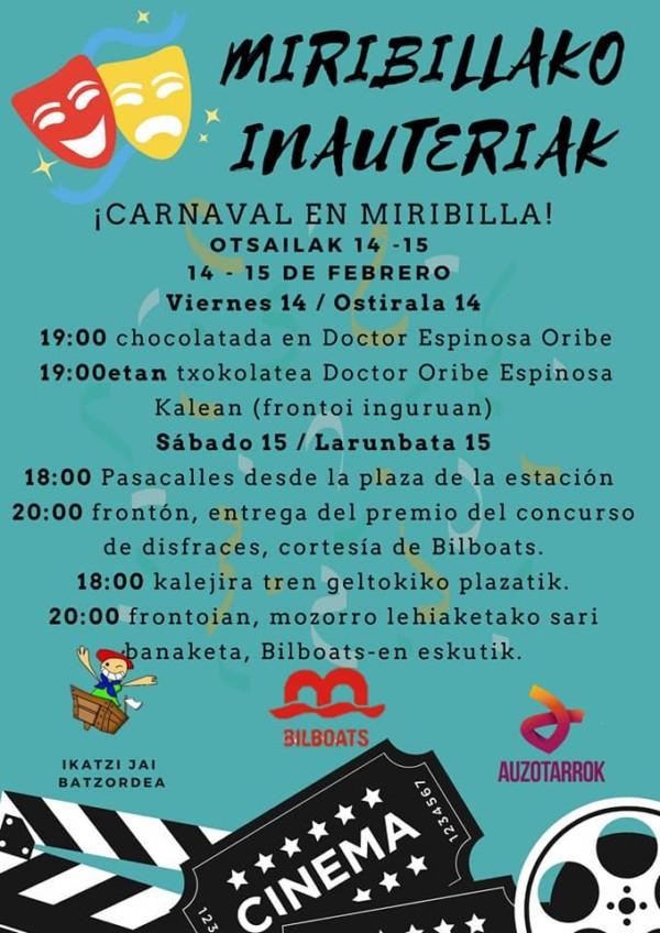 Miribillako inauteriak 2020 Carnavales de Miribilla
