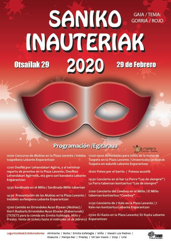 Saninazioko inauteriak 2020 Carnavales de San Inazio