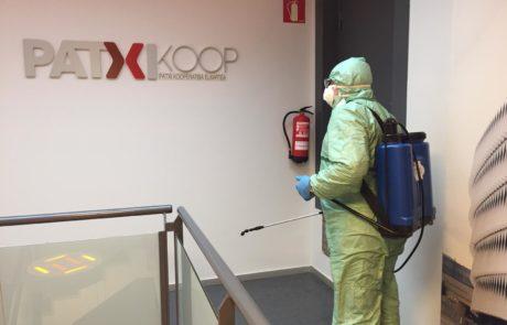 Patxi Koop desinfección empresa